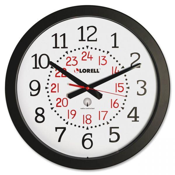 "Lorell 14"" Round Radio Controlled Wall Clock"