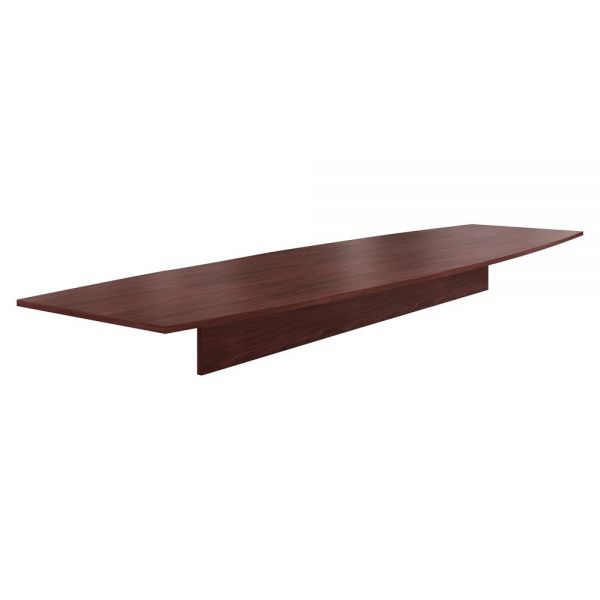 "HON Preside Laminate Table Top | Boat Shape | 168""W 