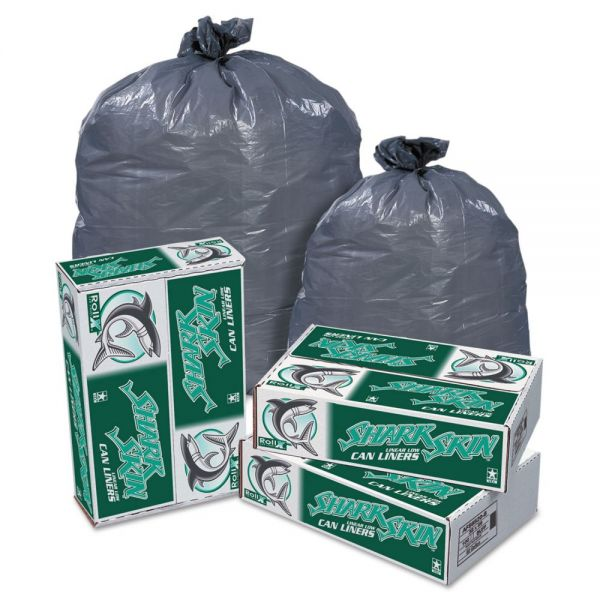 Pitt Plastics Shark Skin Linear 60 Gallon Trash Bags