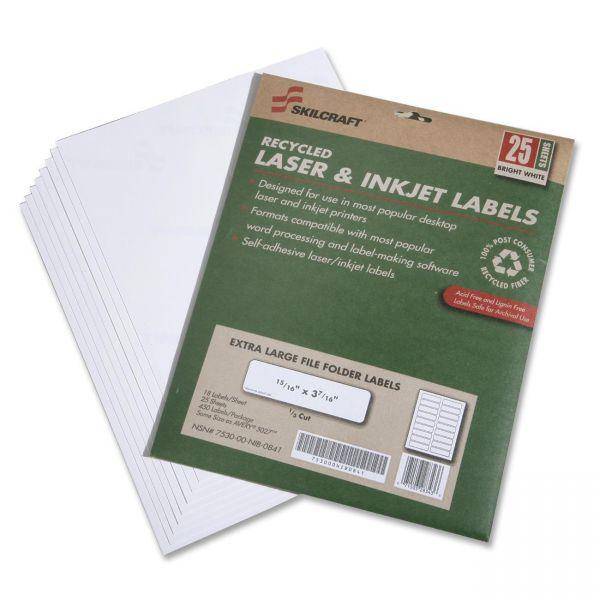 Skilcraft Extra Large File Folder Labels