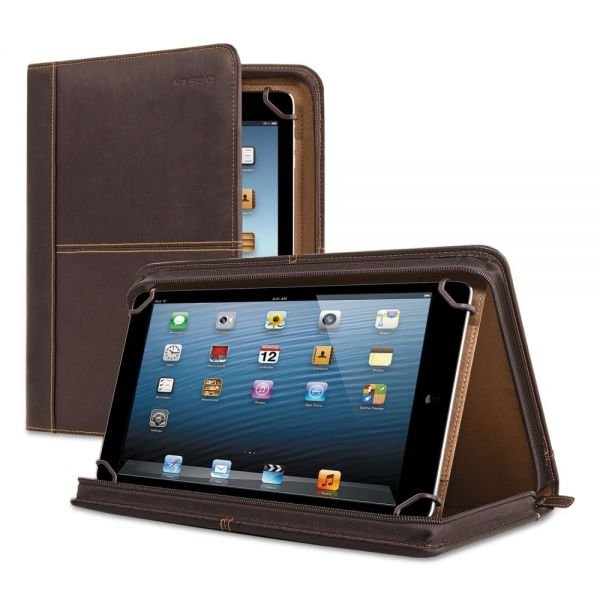 "Solo Premiere Leather Universal Tablet Case, Fits Tablets 8.5"" up to 11"", Espresso"