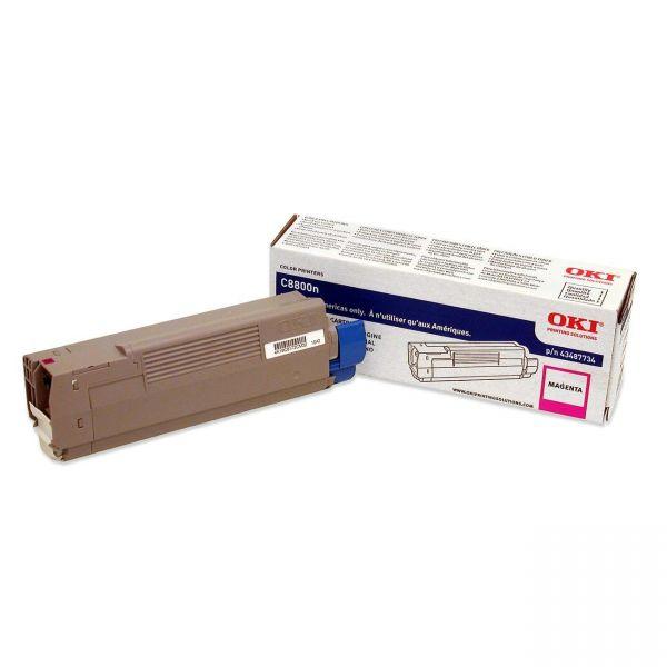 Oki 43487734 Magenta Toner Cartridge