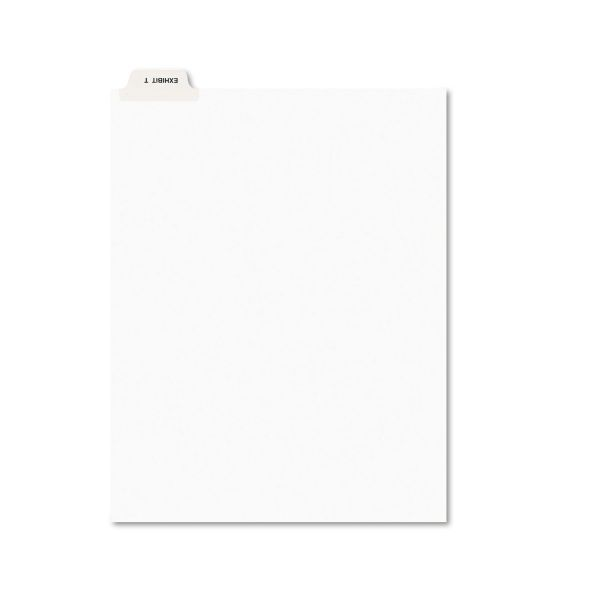 Avery-Style Preprinted Legal Bottom Tab Dividers, Exhibit T, Letter, 25/Pack