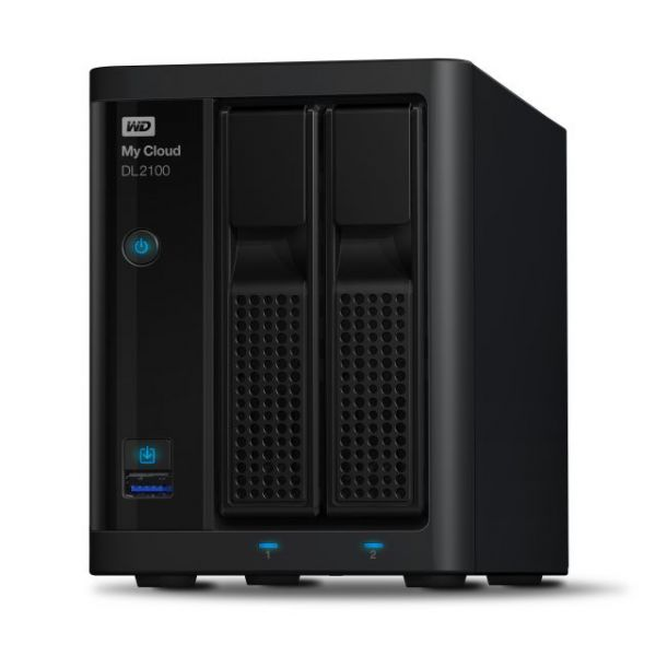 WD My Cloud Business Series DL2100, 12TB, 2-Bay Pre-configured NAS with WD Red Drives