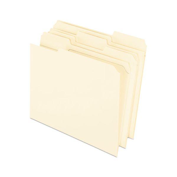 Pendaflex Reinforced Top Tab File Folders, 11 point Kraft, 1/3 Cut, Letter, 100/Box