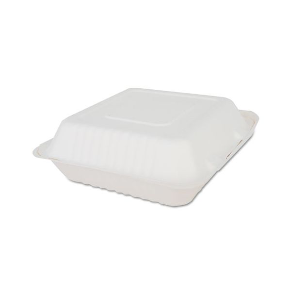 SCT ChampWare Takout Bagasse Clamshell Food Containers