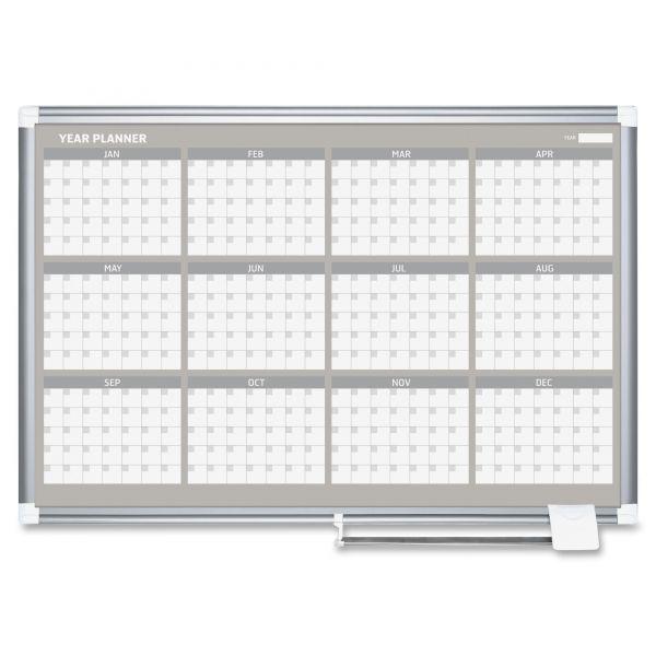 MasterVision Planning Board, 12 month calendar, 24 x 36, Aluminum Frame