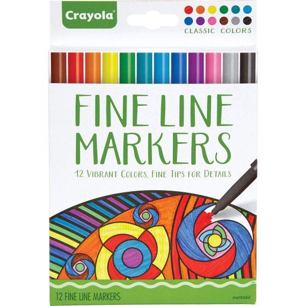 Crayola Classic Colors Fine Line Markers Set