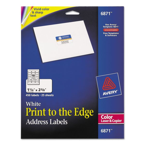 Avery Print To The Edge Address Labels