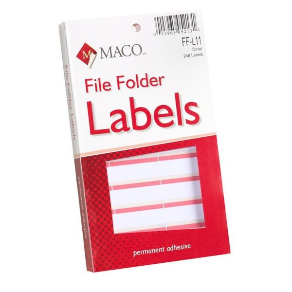 Maco Permanent File Folder Labels