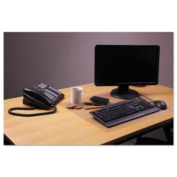 "Floortex Desktex Polycarbonate Anti-Slip Desk Mat, 24"" x 19"", Clear"