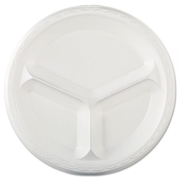 "Genpak Elite 10"" Laminated Foam Compartment Plates"