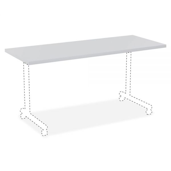 Lorell Rectangular Invent Tabletop - Light Gray