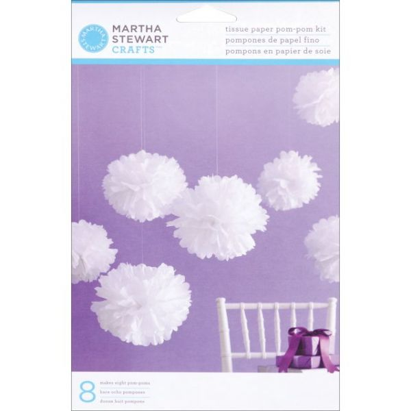 Tissue Paper Pom-Pom Kit Makes 5