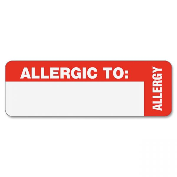 Tabbies Allergic To: Medical Wrap Labels