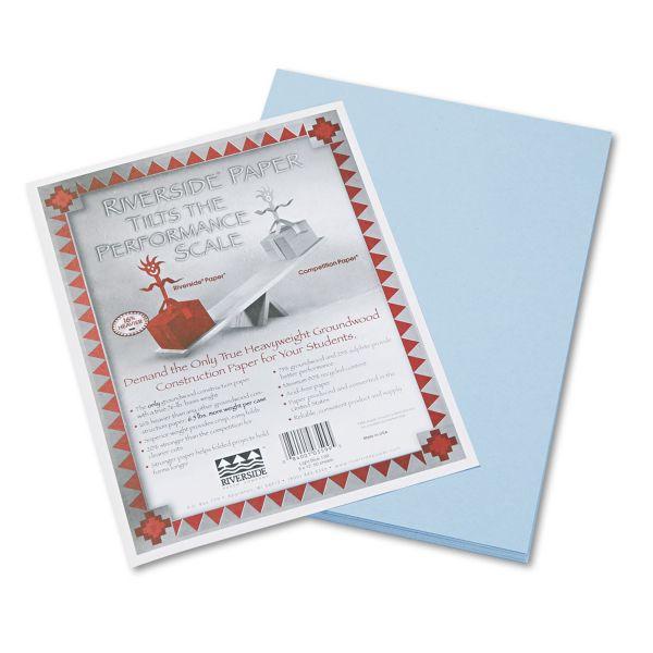 Pacon Riverside Construction Paper, 76 lbs., 9 x 12, Light Blue, 50 Sheets/Pack