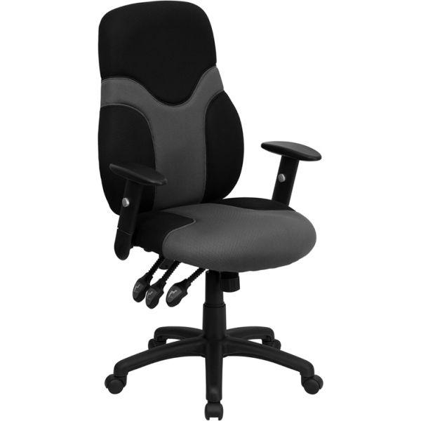 Flash Furniture High Back Ergonomic Swivel Task Chair [BT-6001-GYBK-GG]