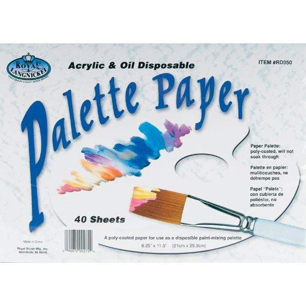 Disposable Poly-Coated Palette Paper Pad