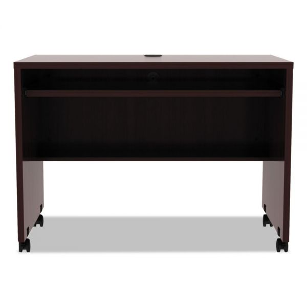 Alera Alera Valencia Mobile Workstation Desk, 41 3/8 x 23 5/8 x 29 7/8, Mahogany