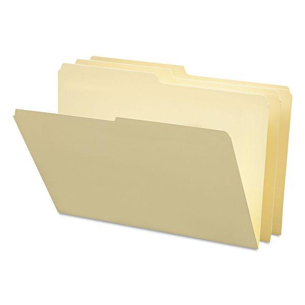 Smead File Folders, 1/2 Cut, One-Ply Top Tab, Legal, Manila, 100/Box
