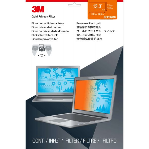 3M Gold GPF13.3W Privacy Screen Filter For Widescreen Notebook