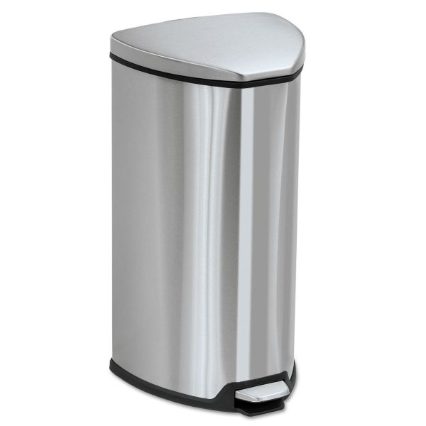 Safco Step-On 7 Gallon Trash Can With Lid