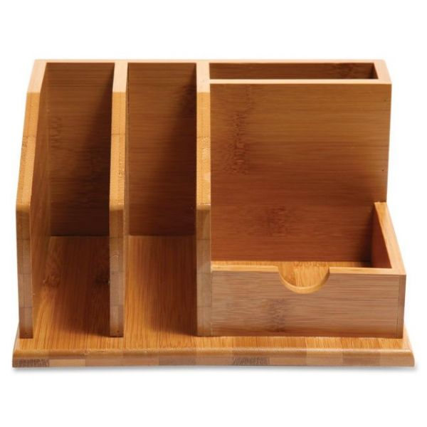 Baumgartens Bamboo Desktop Organizer