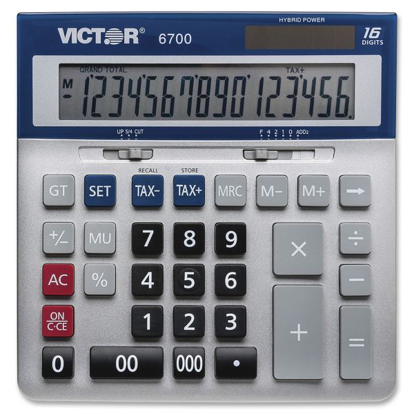 Victor 6700 Large Desktop Calculator, 16-Digit LCD