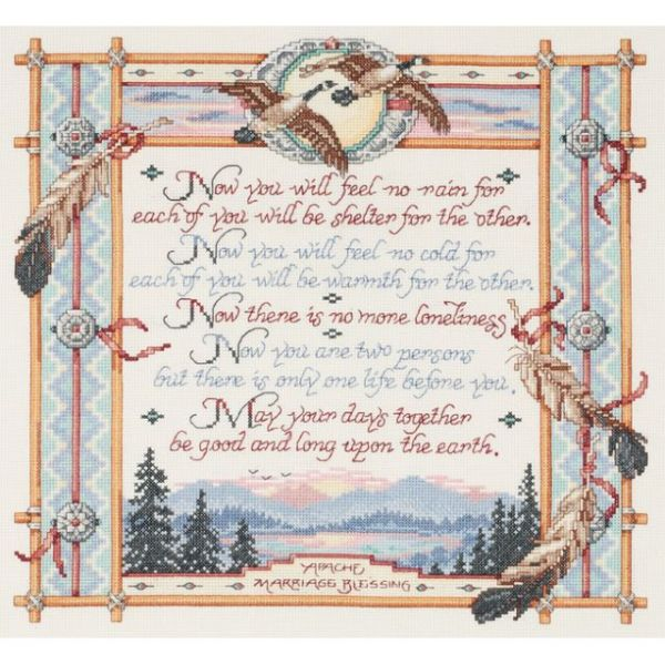Apache Wedding Blessing Counted Cross Stitch Kit