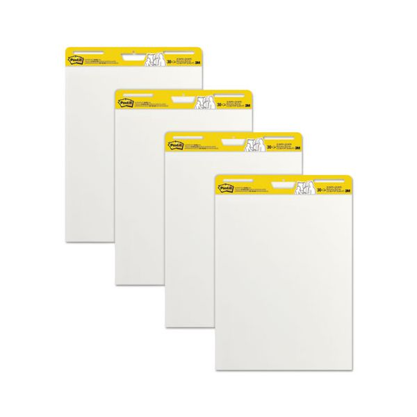 Post-it Easel Pads Self Stick Easel Pads, 25 x 30, White, 4 30 Sheet Pads/Carton