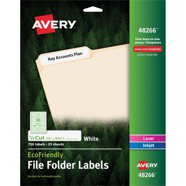Avery EcoFriendly File Folder Labels