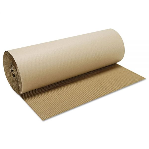 Boardwalk Singleface B-Flute Corrugated Kraft Paper Roll