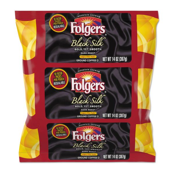 Folgers Coffee Black Silk Filter Packs