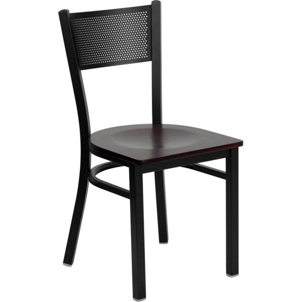 Flash Furniture Grid Back Metal Restaurant Chair