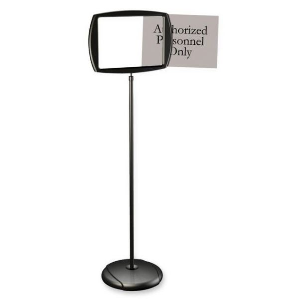 MasterVision Interchangeable 2-Sided Floor Pedestal Sign
