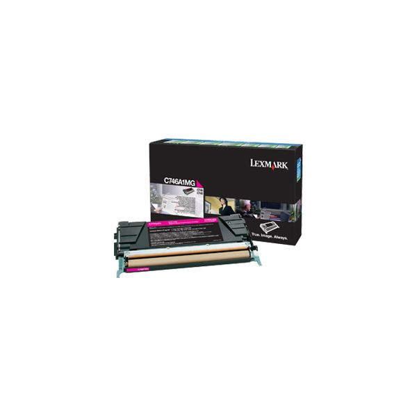 Lexmark C746A1MG Magenta Return Program Toner Cartridge