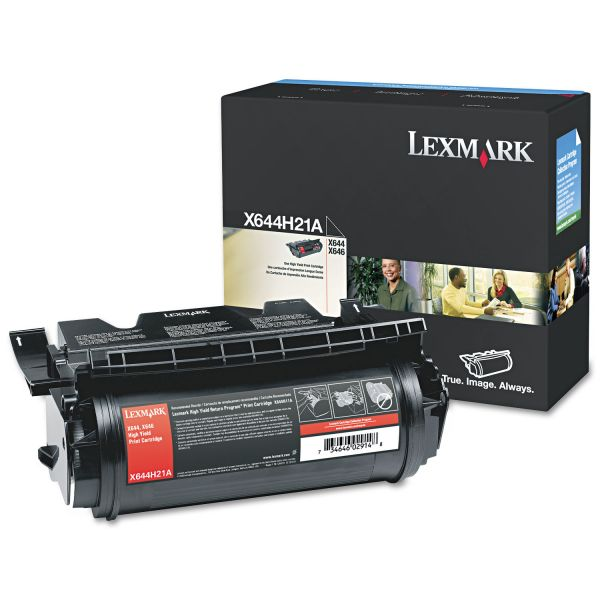 Lexmark X644H21A Black High Yield Toner Cartridge
