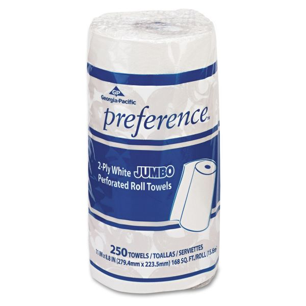 Georgia Pacific Professional Pacific Blue Select Perforated Paper Towel, 8 4/5x11, White, 250/Roll, 12 RL/CT