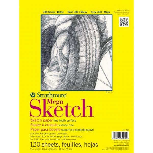 "Strathmore Mega Sketch Paper Pad 9""X12"""