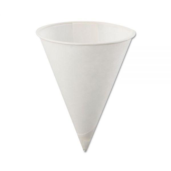 Konie Rolled-Rim 4 oz Paper Cone Cups