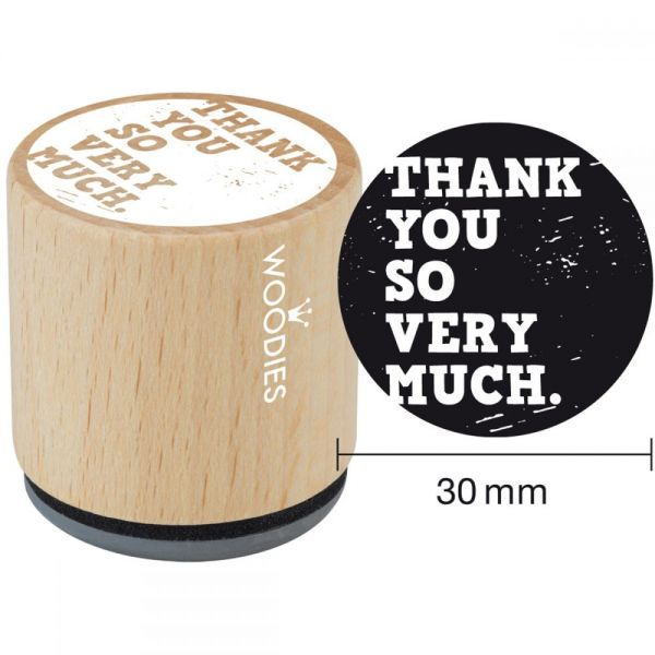 """Woodies Mounted Rubber Stamp 1.35"""""""