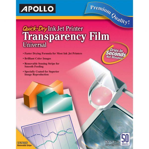 Apollo Quick-Dry Inkjet Printer Transparency Film