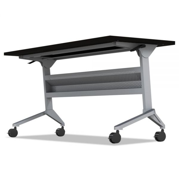 Mayline Flip-n-Go Table Base, 46 7/8w x 21 1/4d x 27 7/8h, Silver