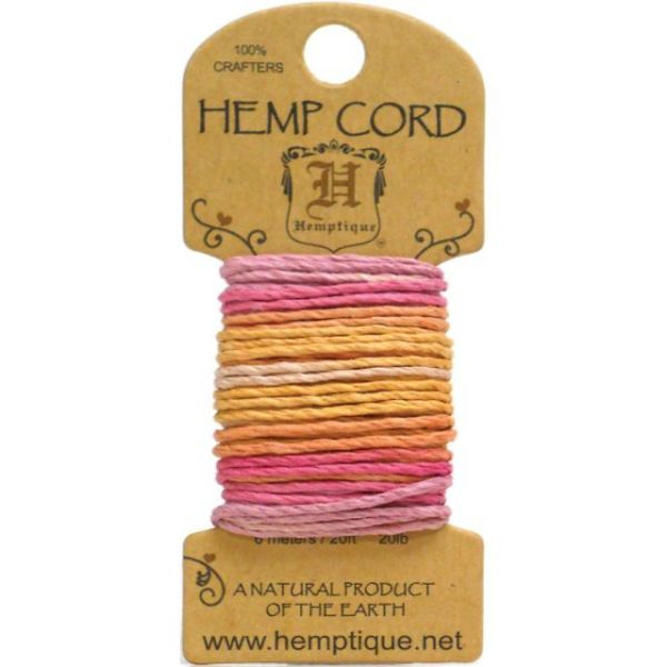 Hemp Variegated Cord 20lb 20'