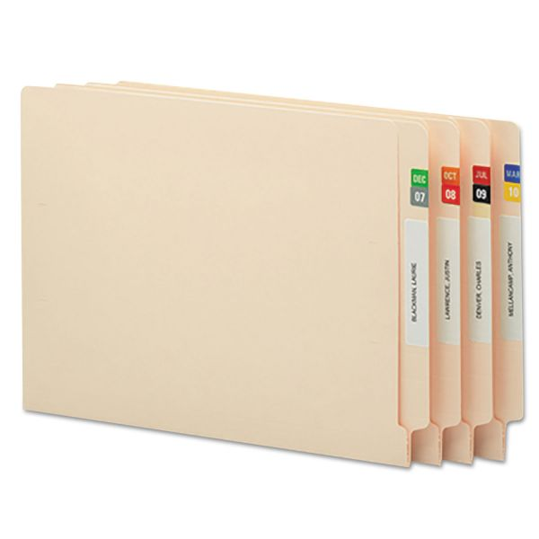Smead Month End Tab File Folder Labels - JAN-DEC