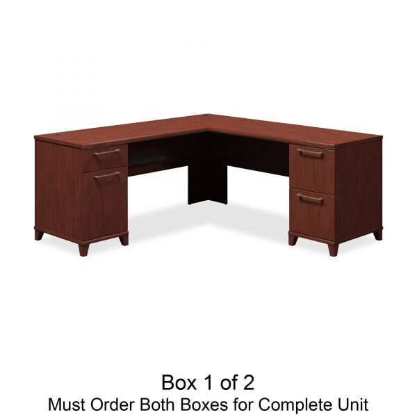 bbf Enterprise L-Shaped Office Desk by Bush Furniture *Box 1 of 2