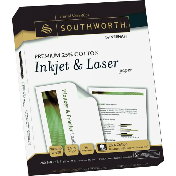 Southworth Premium 25% Cotton Inkjet & Laser Paper
