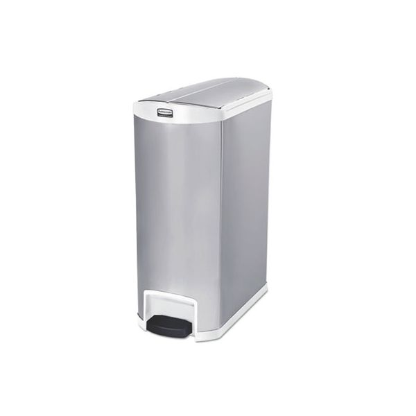 Rubbermaid Slim Jim Stainless Steel Step-On 24 Gallon Trash Can