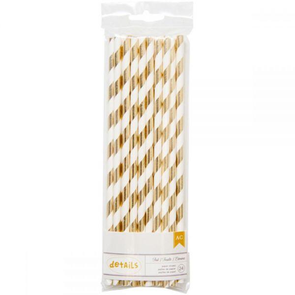 Details Foiled Paper Straws 24/Pkg