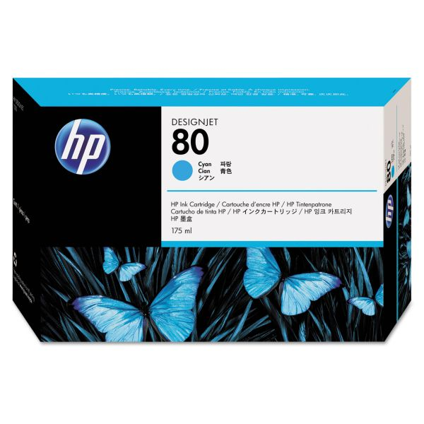 HP 80, (C4872A) Cyan Original Ink Cartridge